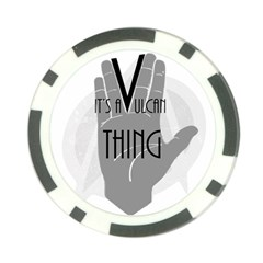 Vulcan Thing Poker Chip Card Guard by Howtobead