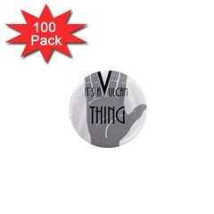 Vulcan Thing 1  Mini Magnets (100 Pack)  by Howtobead