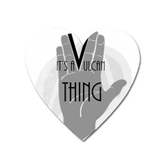 Vulcan Thing Heart Magnet by Howtobead