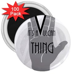 Vulcan Thing 3  Magnets (100 Pack) by Howtobead