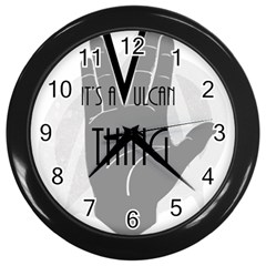 Vulcan Thing Wall Clocks (black) by Howtobead