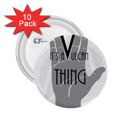 Vulcan Thing 2 25  Buttons (10 Pack)  by Howtobead