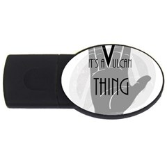 Vulcan Thing Usb Flash Drive Oval (4 Gb) by Howtobead