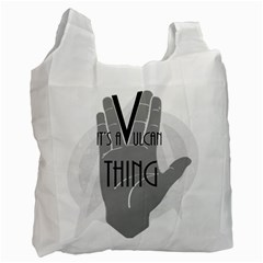 Vulcan Thing Recycle Bag (one Side) by Howtobead