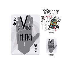 Vulcan Thing Playing Cards 54 (mini)  by Howtobead