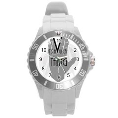Vulcan Thing Round Plastic Sport Watch (l) by Howtobead