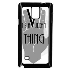 Vulcan Thing Samsung Galaxy Note 4 Case (black) by Howtobead