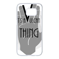 Vulcan Thing Samsung Galaxy S7 Edge White Seamless Case by Howtobead