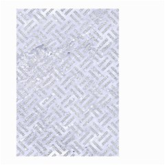 Woven2 White Marble & Silver Glitter (r) Small Garden Flag (two Sides) by trendistuff
