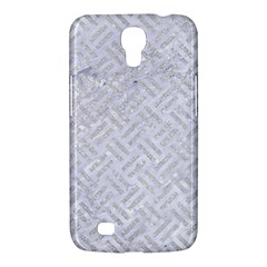 Woven2 White Marble & Silver Glitter (r) Samsung Galaxy Mega 6 3  I9200 Hardshell Case by trendistuff