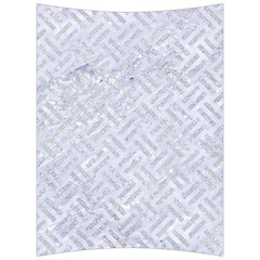 Woven2 White Marble & Silver Glitter (r) Back Support Cushion by trendistuff