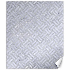 Woven2 White Marble & Silver Glitter Canvas 20  X 24   by trendistuff