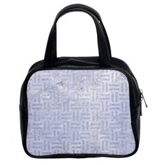 Woven1 White Marble & Silver Glitter (r) Classic Handbags (2 Sides) by trendistuff