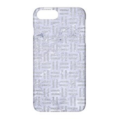 Woven1 White Marble & Silver Glitter (r) Apple Iphone 8 Plus Hardshell Case