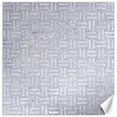 Woven1 White Marble & Silver Glitter Canvas 12  X 12   by trendistuff