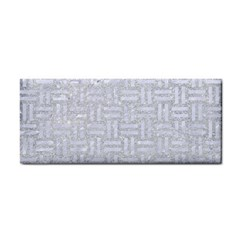 Woven1 White Marble & Silver Glitter Cosmetic Storage Cases by trendistuff