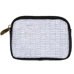 Woven1 White Marble & Silver Glitter Digital Camera Cases by trendistuff