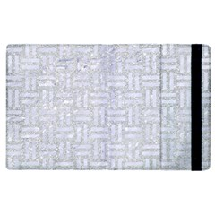 Woven1 White Marble & Silver Glitter Apple Ipad 2 Flip Case by trendistuff