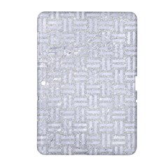 Woven1 White Marble & Silver Glitter Samsung Galaxy Tab 2 (10 1 ) P5100 Hardshell Case  by trendistuff