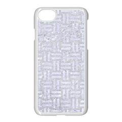 Woven1 White Marble & Silver Glitter Apple Iphone 7 Seamless Case (white) by trendistuff