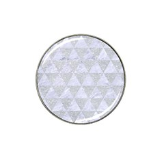 Triangle3 White Marble & Silver Glitter Hat Clip Ball Marker (4 Pack) by trendistuff