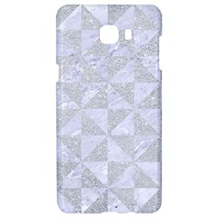 Triangle1 White Marble & Silver Glitter Samsung C9 Pro Hardshell Case
