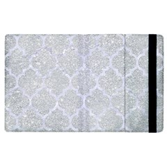 Tile1 White Marble & Silver Glitter Apple Ipad 3/4 Flip Case by trendistuff