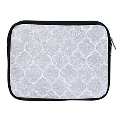 Tile1 White Marble & Silver Glitter Apple Ipad 2/3/4 Zipper Cases by trendistuff