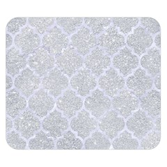Tile1 White Marble & Silver Glitter Double Sided Flano Blanket (small)