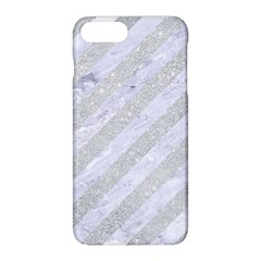 Stripes3 White Marble & Silver Glitter (r) Apple Iphone 8 Plus Hardshell Case by trendistuff