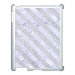 Stripes3 White Marble & Silver Glitter Apple Ipad 3/4 Case (white) by trendistuff