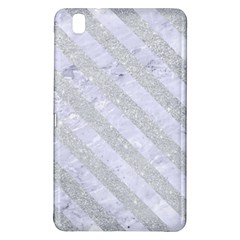 Stripes3 White Marble & Silver Glitter Samsung Galaxy Tab Pro 8 4 Hardshell Case by trendistuff