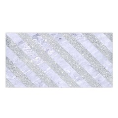 Stripes3 White Marble & Silver Glitter Satin Shawl