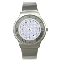 Square2 White Marble & Silver Glitter Stainless Steel Watch by trendistuff