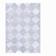 Square2 White Marble & Silver Glitter Small Garden Flag (two Sides) by trendistuff