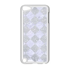 Square2 White Marble & Silver Glitter Apple Ipod Touch 5 Case (white) by trendistuff