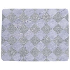 Square2 White Marble & Silver Glitter Jigsaw Puzzle Photo Stand (rectangular) by trendistuff
