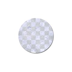 Square1 White Marble & Silver Glitter Golf Ball Marker by trendistuff