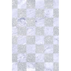 Square1 White Marble & Silver Glitter 5 5  X 8 5  Notebooks by trendistuff