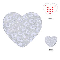 Skin5 White Marble & Silver Glitter (r) Playing Cards (heart)  by trendistuff