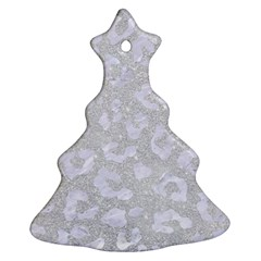 Skin5 White Marble & Silver Glitter (r) Christmas Tree Ornament (two Sides) by trendistuff
