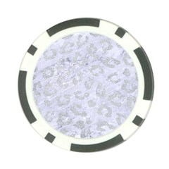 Skin5 White Marble & Silver Glitter Poker Chip Card Guard by trendistuff