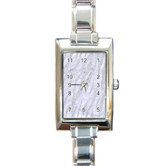 Skin3 White Marble & Silver Glitter (r) Rectangle Italian Charm Watch