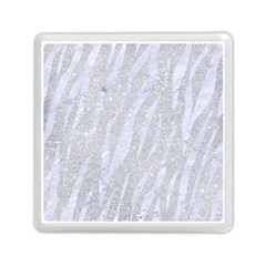 Skin3 White Marble & Silver Glitter Memory Card Reader (square)  by trendistuff