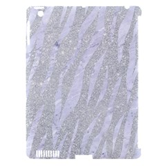 Skin3 White Marble & Silver Glitter Apple Ipad 3/4 Hardshell Case (compatible With Smart Cover) by trendistuff