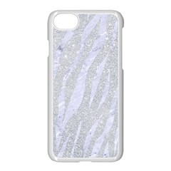 Skin3 White Marble & Silver Glitter Apple Iphone 8 Seamless Case (white) by trendistuff