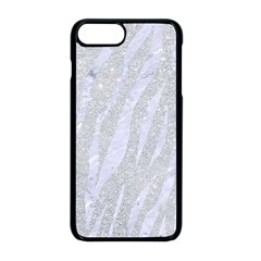 Skin3 White Marble & Silver Glitter Apple Iphone 8 Plus Seamless Case (black) by trendistuff
