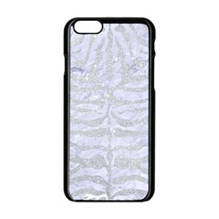 Skin2 White Marble & Silver Glitter (r) Apple Iphone 6/6s Black Enamel Case by trendistuff