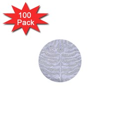 Skin2 White Marble & Silver Glitter 1  Mini Buttons (100 Pack)  by trendistuff