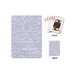 Skin2 White Marble & Silver Glitter Playing Cards (mini)  by trendistuff